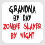 Grandma Zombie Slayer Square Stickers
