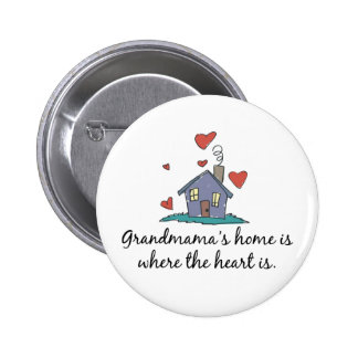 Grandmama apos s Home is Where the Heart is Pinback Button