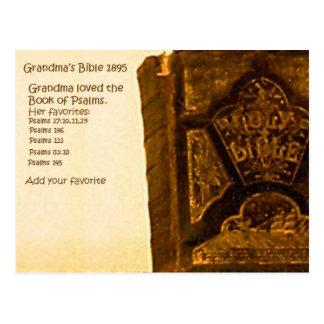 Grandma's 1895 Bible Postcard