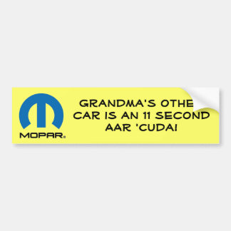 Grandma's AAR Car Bumper Sticker