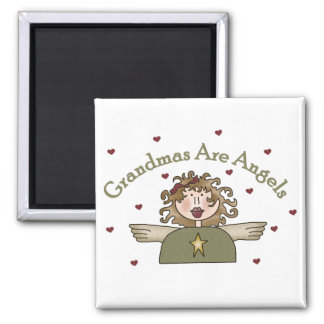 Grandmas Are Angels T-shirts and Gifts Square Magnet