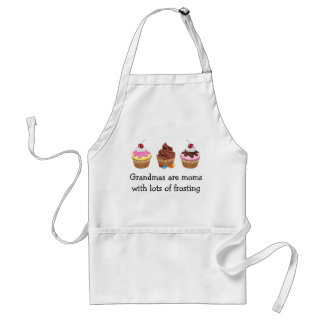 Grandmas are moms with lots of frosting standard apron
