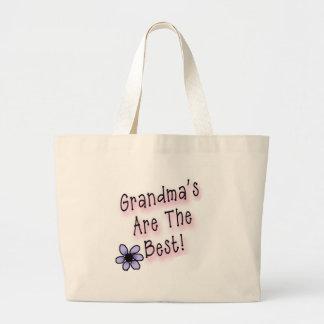 Grandmas Are the Best Large Tote Bag