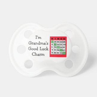 Grandmas BINGO Good Luck Charm Pacifier