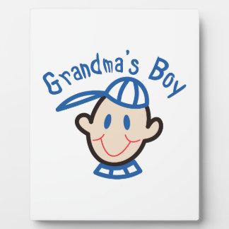 Grandmas Boy Display Plaque