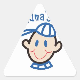Grandmas Boy Triangle Sticker