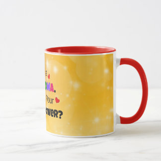 Grandma's Colorful and Cute Design Mug