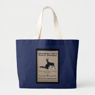 Grandmas cookbook large tote bag