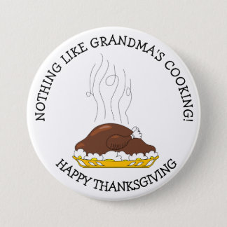 Grandma's Cooking Thanksgiving Day Button