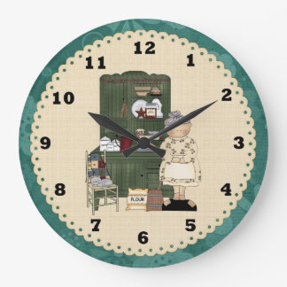 Grandma's Country Kitchen Clock