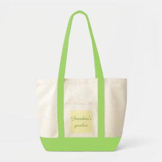 Grandma's goodies canvas bag