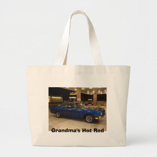Grandma's Hot Rod Jumbo Tote Bag