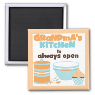 Grandma's Kitchen Always Open T-shirts and Gifts Square Magnet