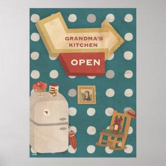 GRANDMAS KITCHEN Vintage Poster