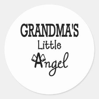 Grandma's little angel classic round sticker