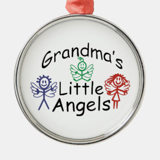 Grandmas Little Angels Silver-Colored Round Decoration