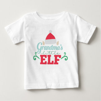 Grandma's little elf unisex baby t-shirt