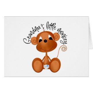 Grandma's Little Monkey - Boy Tshirts and Gifts Card