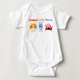 Grandma's Little Monster - Baby Jersey Bodysuit
