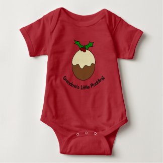 Grandma's Little Pudding Vest Baby Bodysuit