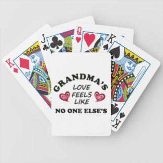 Grandma's Love Bicycle Playing Cards