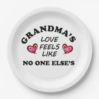 Grandma's Love Paper Plate