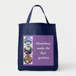 Grandmas Make the Best Spoilers Photo Template Grocery Tote Bag