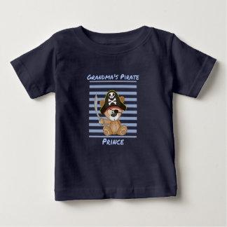 Grandma's Pirate Prince Baby Fine Jersey T-Shirt
