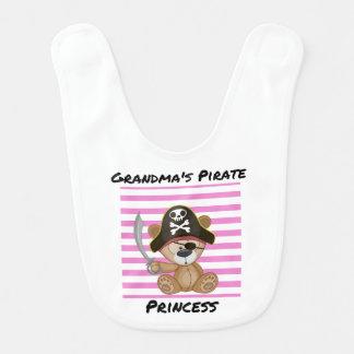 Grandma's Pirate Princess Baby Bib
