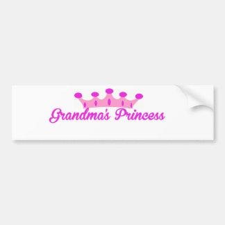 Grandma's Princess Bumper Sticker