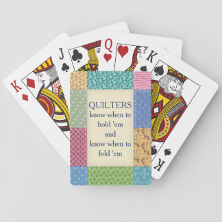 Grandma's Quilt Quotation Custom Playing Cards