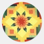 Grandma's Quilt Round Sticker