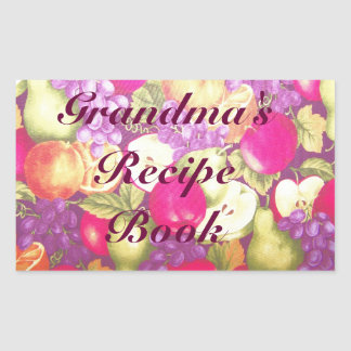 Grandma's Recipe or This Book Belongs to Label Rectangular Sticker