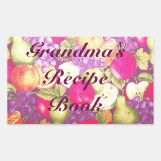 Grandma's Recipe or This Book Belongs to Label Rectangular Sticker