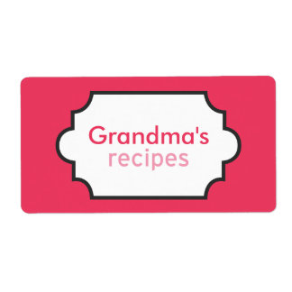 Grandma's Recipes Collection Shipping Label