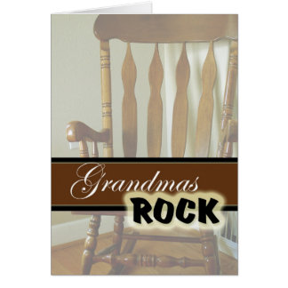 Grandmas Rock-Happy Grandparents Day Card