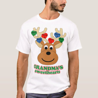 Grandma's Sweethearts Add your Grandkids names T-Shirt
