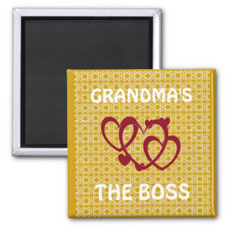 GRANDMAS THE BOSS KITCHEN MAGNET
