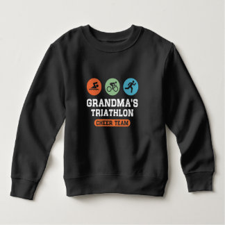 Grandma's Triathlon Cheer Team Sweatshirt