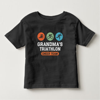 Grandma's Triathlon Cheer Team Toddler T-Shirt