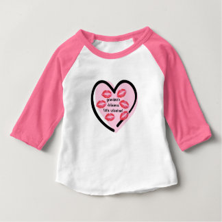 Grandma's Valentine Kisses Baby T-Shirt
