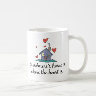 Grandmere's Home is Where the Heart is Mugs
