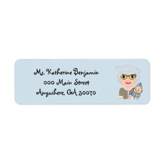 Grandmother Baby Shower Return Address Sticker