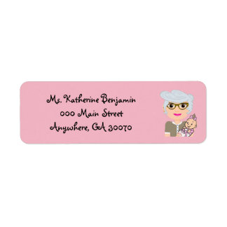 Grandmother Baby Shower Return Address Sticker Return Address Label