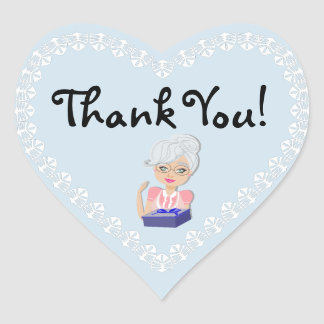 Grandmother Baby Shower Thank You Heart Sticker