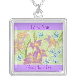 Grandmother Butterfly Garden Love Necklace