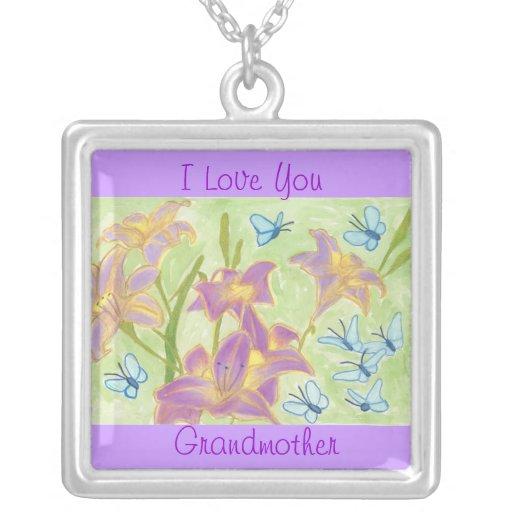 Grandmother Butterfly Garden Love Necklace