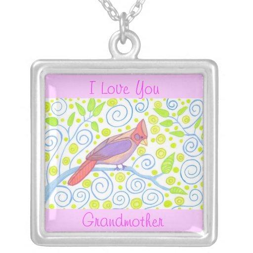 Grandmother Cardinal Necklace