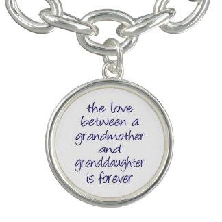 Grandmother Granddaughter Love Charm Bracelet
