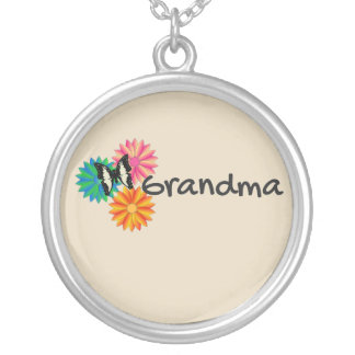Grandmother Grandma Floral Butterfly Necklace